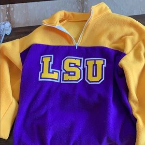 Throwback/ Retro/ Old School LSU pull over